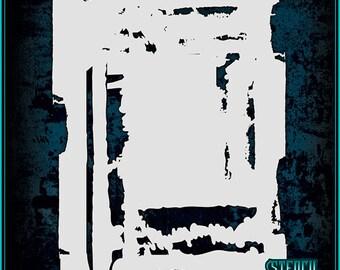 Grunge Texture #1 Airbrush Stencil Template
