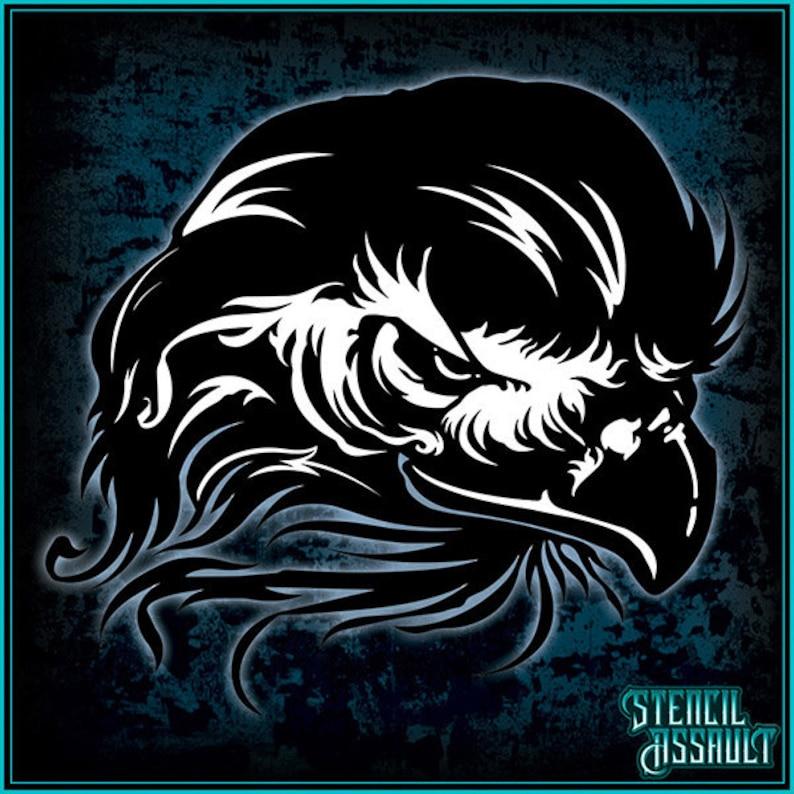 Eagle Head Airbrush Stencil Template