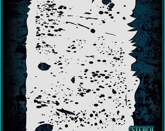Grunge Texture #2 Airbrush Stencil Template