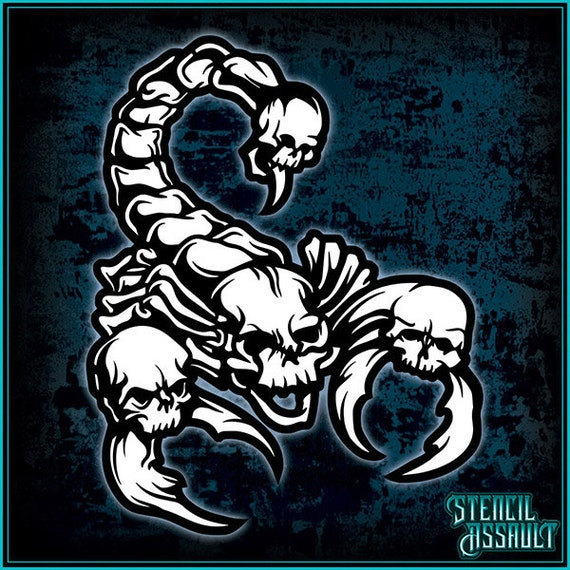 cookie 60mm scorpion design cake craft /& face painting stencil
