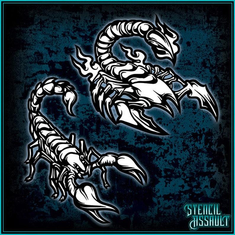 Mini Scorpion Set #3 Airbrush Stencil Template