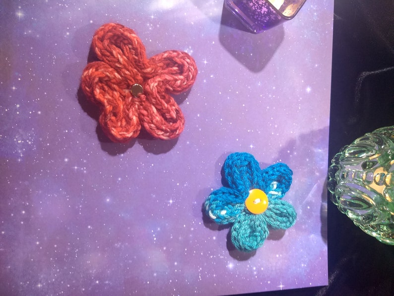 HANDMADE Knit Flower DECORATIONS