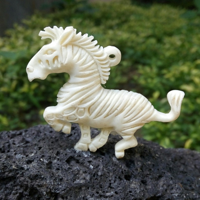 Amazing Carving Horse Racing Bead Recycle Buffalo Bone For Etsy