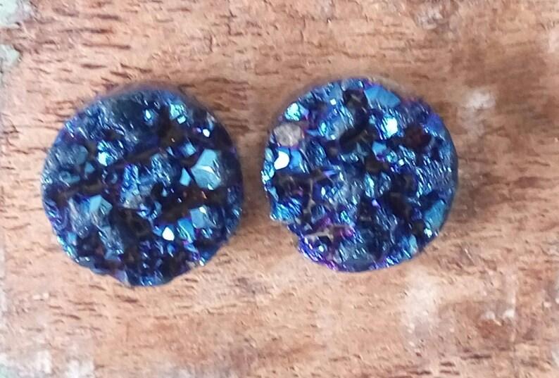 Druzy Gemstone Blue Color Silver Wrap Necklace E382 Pendant Set Tutorials Bead Jewelry Making