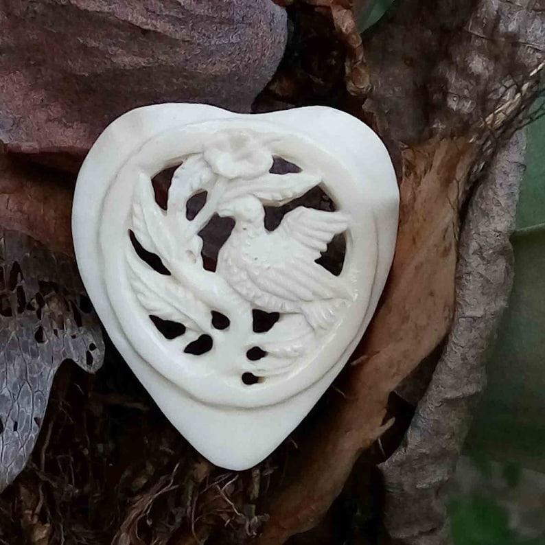 Hummingbird Buffalo Bone Bird Necklace Adorable Jewelry Making Pendant Necklace E14