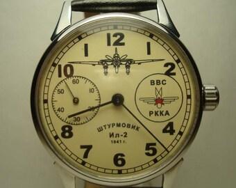 e4099e12f93 Soviet Air Force AVIATION CLOCK ACHS-1 Russian Pilot watch