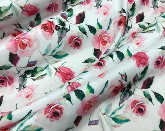 PH-5532-M Abstract Stripe Print Viscose Dress Fabric