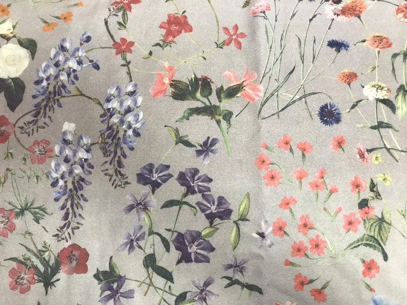 1.4 meters last piece. Floral wool fabrichaute couture fabricwisteria wool cloth fabric Thick wool floral for jacket