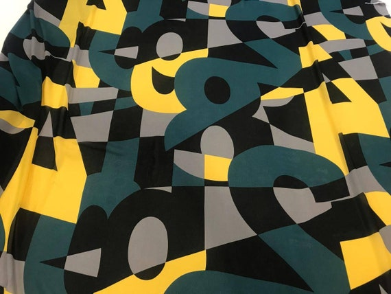 2774-99 Letters /& Numbers on Black sold by the 1//2 yard Studio E Fabrics