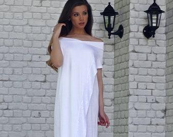 White Maxi Dress, Long Dress, Plus Size Clothing, Maxi Dress, Long Dress, Summer Dress, Asymmetrical Dress, Dresses, Asymmetrical Dress