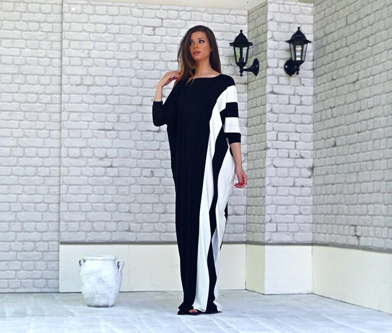 aa604d5c704 Plus Size Asymmetrical Kaftan Maxi Loose Dress