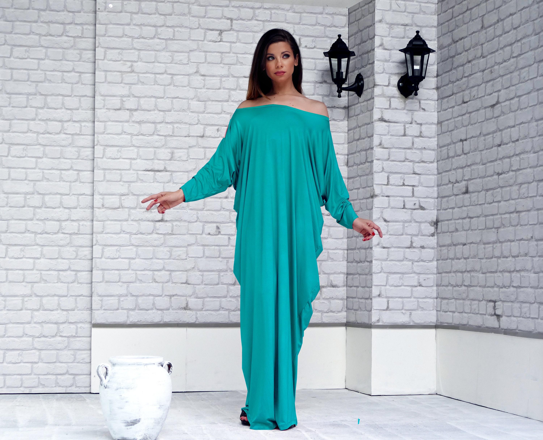 Boho Long Sleeve Maxi Dress Plus Size