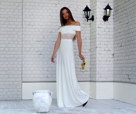 Boho Wedding Dress Plus Size Clothing Simple Wedding Dress Etsy