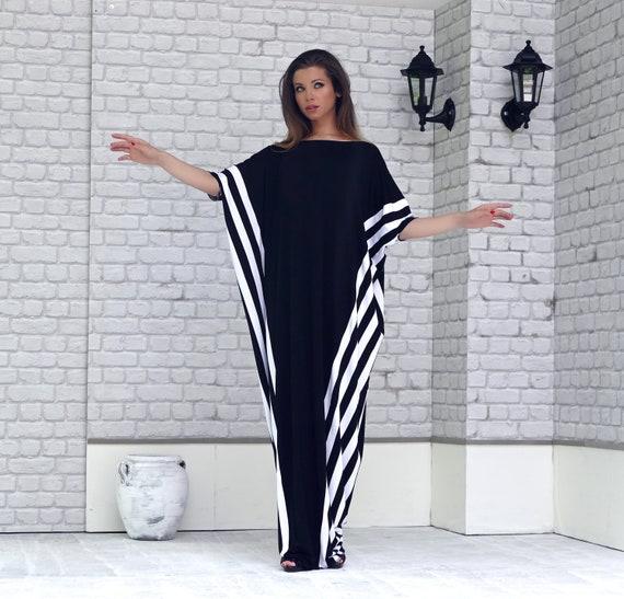 Plus Size Long Sleeves Kaftan Maxi Dress