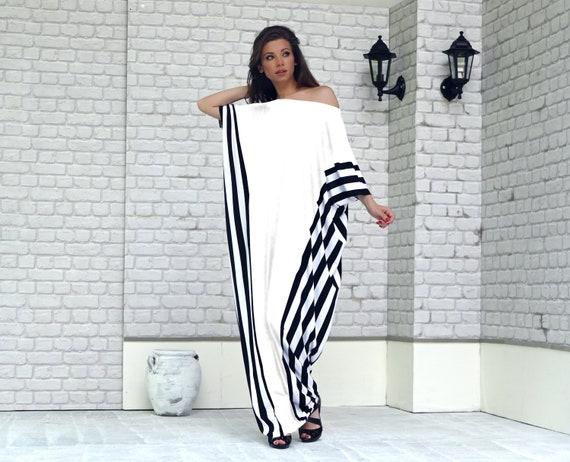 f2c3c5ad605 White Summer Dress Plus Size Maxi Dress Kaftan Maxi Dress