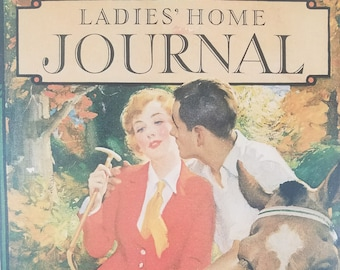 Vintage Magazine Covers - Ladies' Home Journal, Man and Woman on Horses