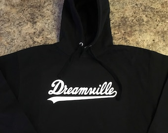 377ca1ed41f635 Dreamville Black Hoodie White Print Cole World KOD Tour Hoodies J Cole  Dreamville Merch Revenge Xxxtentacion Drake Supreme Men Women Hoodies