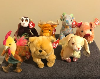 5c65eddbab4 Ty Beanie Babies- Chinese Zodiac New Year animals  (Rooster