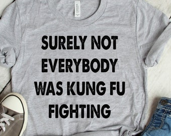 6c407eb1e Surely Not Everybody Was Kung Fu Fighting T-Shirt, Funny T Shirt, Women's,  Men's, Unisex, Hoodie