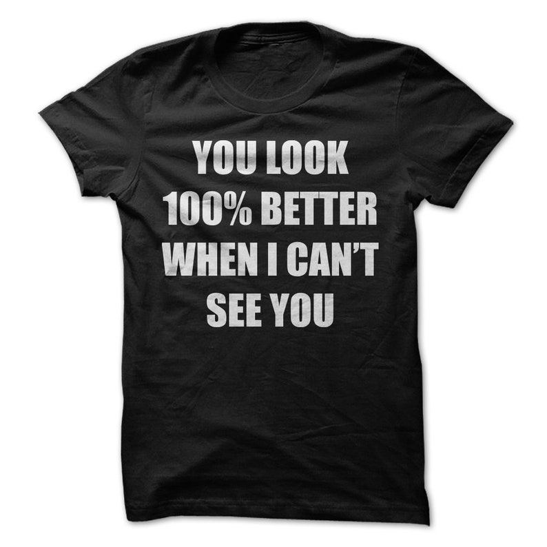 You Look 100 Better When I Can T See You T Shirt Funny T Shirt Women S Men S Unisex Hoodie Raglan 3 4 Sleeve