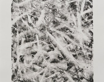 Title: 'Camouflage' - Limited Edition Lithograph. Abstract monochrome motif. Acid free 100% archival paper.