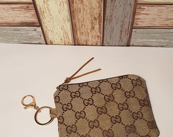3bb71244756f Custom made coin purse , small organisation pouch. Fully lined pouch  inspired GG Gucci Fabric planner mum bag christmas with keyfob clasp