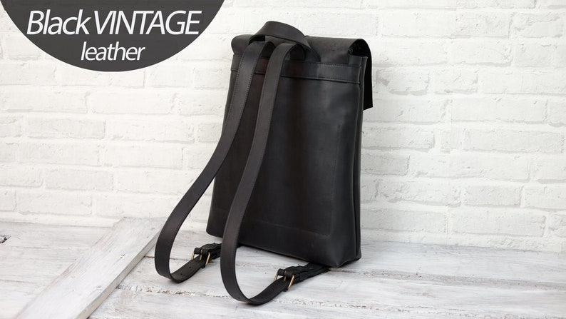 Women leather backpack College Backpack Laptop backpack Men Black leather backpack Brown Backpack Large Laptop  15.3 x 13.4 inches