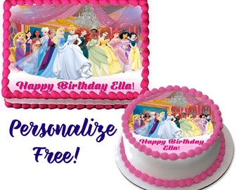 Disney Princess Edible Cake Image For Quarter Sheet Or Round Decoration Topper