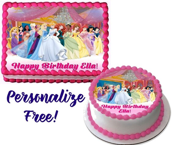 Disney Princess Edible Cake Image For Quarter Sheet Or Round