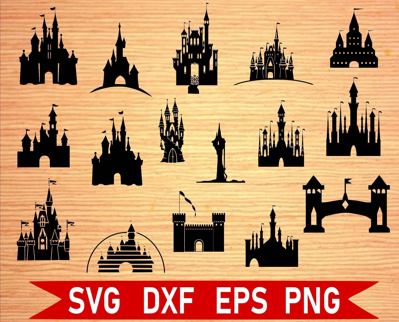 Disney Castles SVG Bundle Castle svg Disney SVG disney | Etsy