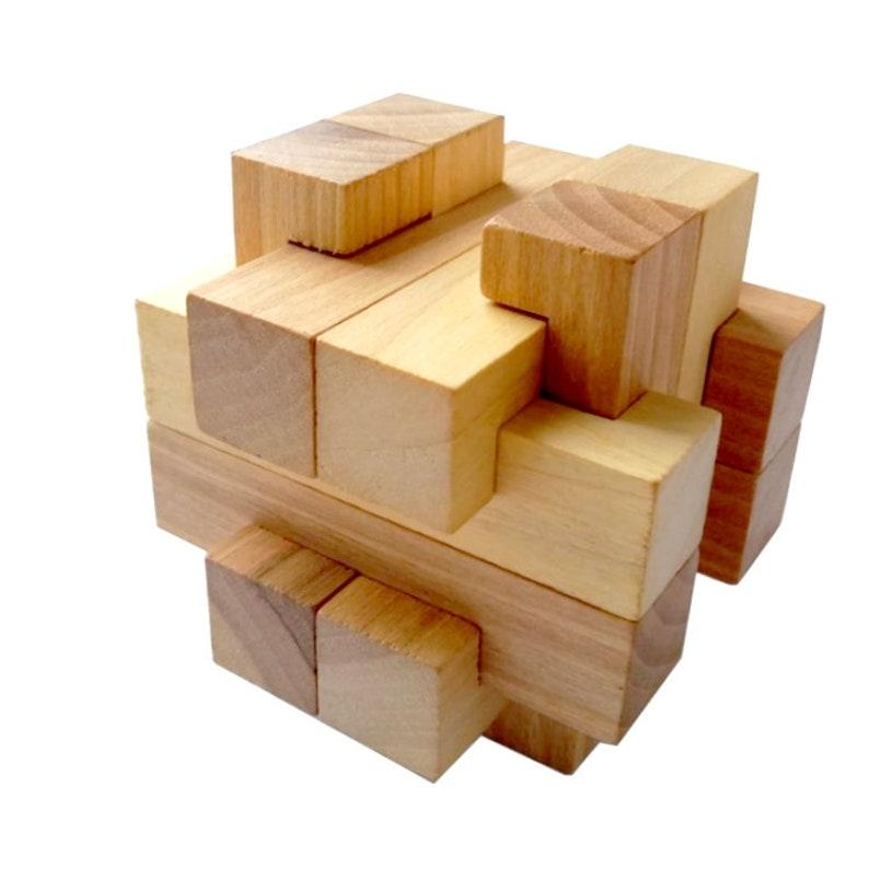 3D Puzzle Cross 12 Piece Burr 3D wooden brain teaser ...