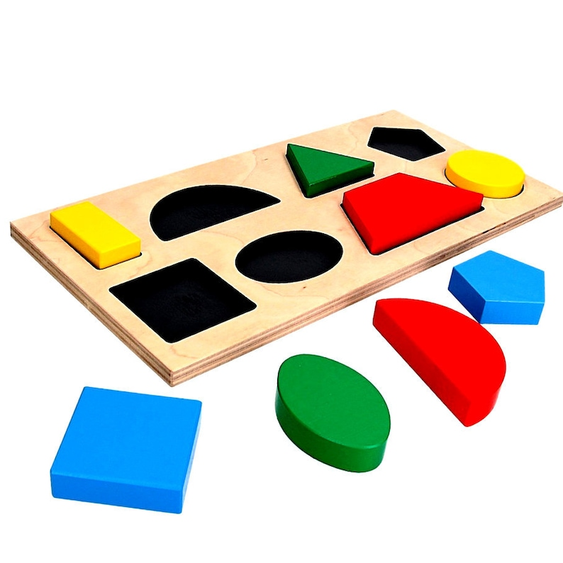 Geometric Shape Puzzles, Wooden puzzle toys, geometric puzzles, Preschool  Math, Montessori toys, Wood jigsaw, Educational personalised toys