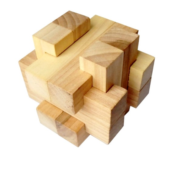 3d Puzzle Cross 12 Piece Burr 3d Wooden Brain Teaser Puzzle Burr Puzzle Wood Puzzle Brain Teaser 3dpuzzle Mind Game Educational Game