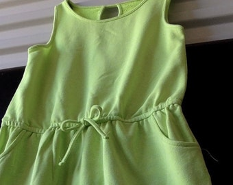 Green Cotton Sun Dress