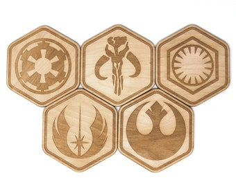 Star Wars Inspired Factions Coasters Set