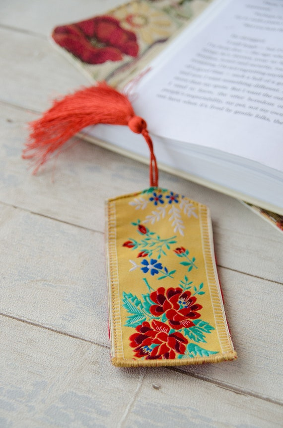 Woven Silk Bookmark May Your Day Be Happy