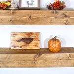 Floating Shelves/ Farmhouse Style Shelves/ Custom Floating Shelves/ Railroad Tie Shelves/ Chunky Shelves/ Rustic Shelves/ Kitchen/Livingroom