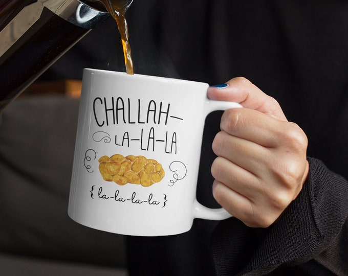 Happy Holidays Mug, Jewish Mug, Chrismukkah Mug, Interfaith Holiday Mug, Hanukkah Gift, Shabbat, Challah Mug, Happy Challahdays Coffee Cup