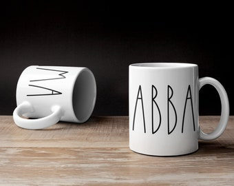 IMA Mug, ABBA Mug, Jewish Mug, Jewish Mom, Jewish Dad, Shabbat Shalom, Hebrew, Israel, Coffee Cup, Fathers Day Gift, Mother's Day, Taglit