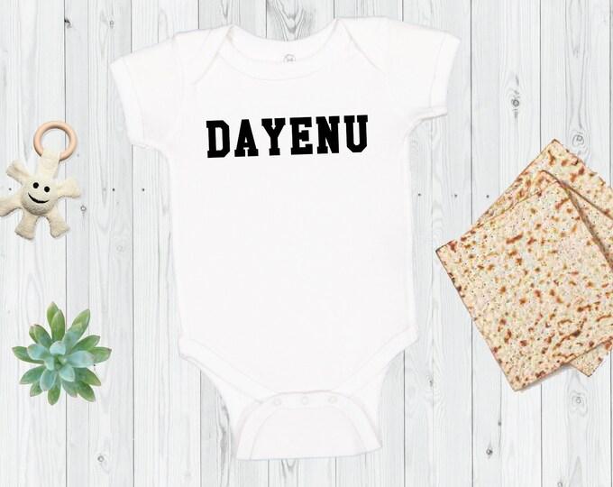 Passover Onesie®, DAYENU, Baby's First Passover, Matzah Baller, Matzo, Pesach Onesie®, Jewish Baby, Toddler, Kids Shirt, Shabbat, Funny Tee