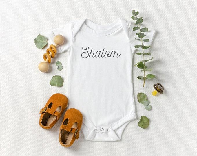 Shalom - Jewish Baby Bodysuit