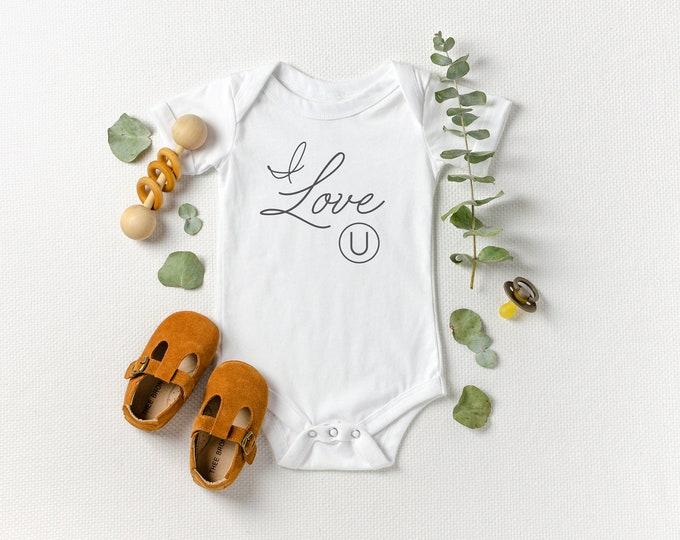 I Love (U) Kosher - Jewish Baby Bodysuit