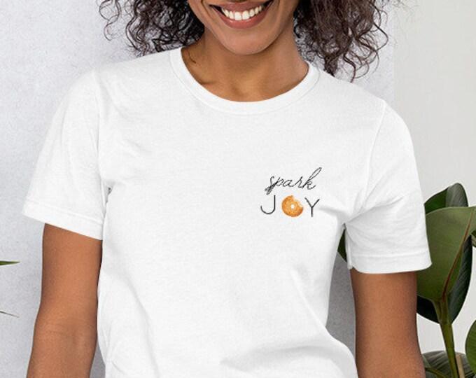 Spark Joy Shirt, Bagels, Carbs, Love, Jewish Shirt, Tee, Tank, Summer, Women's, Men's, Carpe Diem, Bubbe, Mom Gift, Tshirt, Shavuot, BBYO