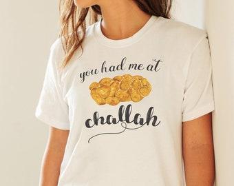 Challah Shirt, Shabbat Shirt, Jewish Shirt, Shabbos, Funny Shirt, Hebrew Shirt, Frum, Shalom, You Had Me At Hello, Short-Sleeve Unisex Tee