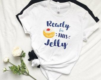 Hanukkah Shirt, Sufganiyot Shirt, Women's Hanukkah Shirt, Mens Hanukkah Shirt, Chanukah Shirt, Jewish Holiday, Gelt Menorah Jelly Donuts Tee