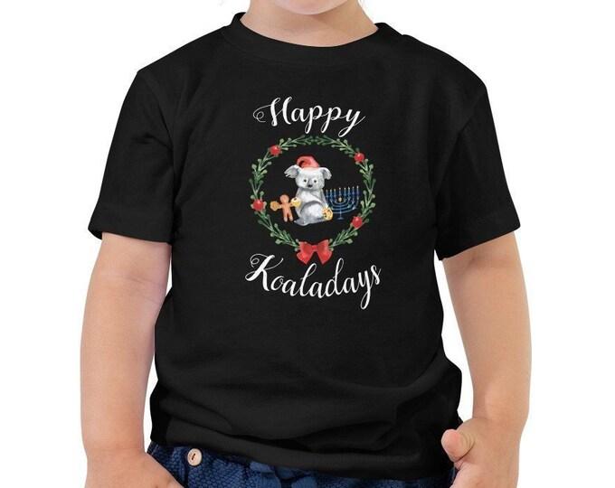 Happy Koaladays Kids Shirt, Chrismukkah Shirt, Hanukkah and Christmas Shirt, Chanukah, Merry Hanukkah Jewish Christmas, Interfaith Onesie