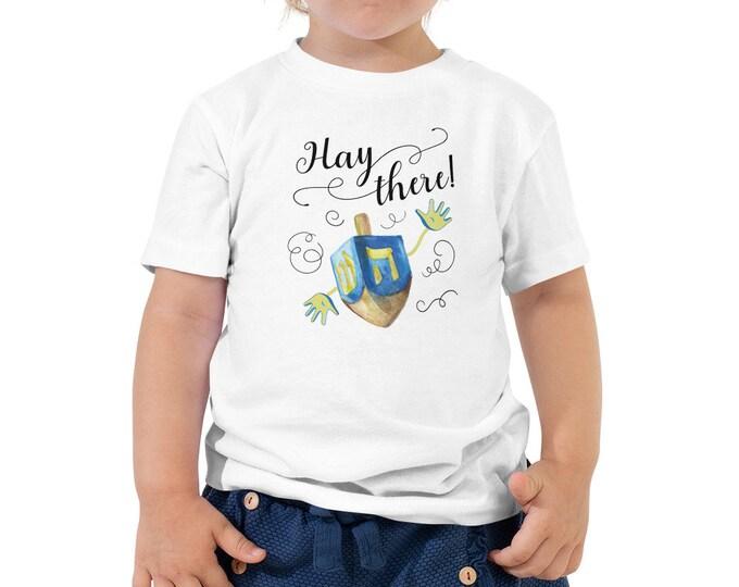 Toddler Hanukkah Dreidel Shirt, Kids Hanukkah TShirt, Baby Chanukah Shirt, Gelt, Chanukah Shirt, Latke, Jewish Holiday, Menorah, Llamakkah