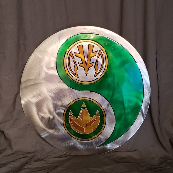 Green White Power Ranger Yin Yang Etsy