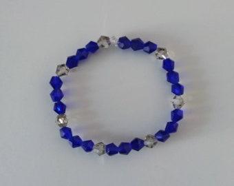Swarovski sapphire blue pearl bracelet style