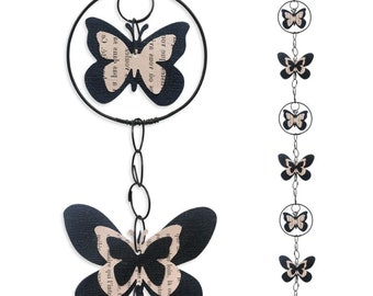 Wire - coloured Garland - black - Butterfly wall hanging
